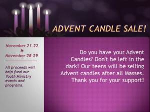 YM Advent Candle Sale